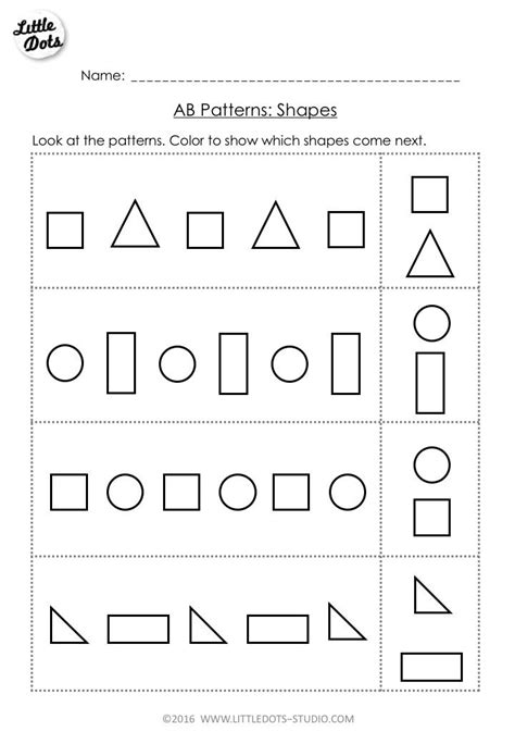 pattern continuation worksheet 38 best free kindergarten math worksheets images on