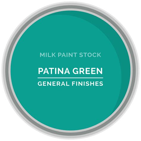 Stock Milk Paint Color: Patina Green   General Finishes