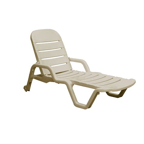 shop mfg corp desert clay resin stackable patio chaise lounge chair at lowes