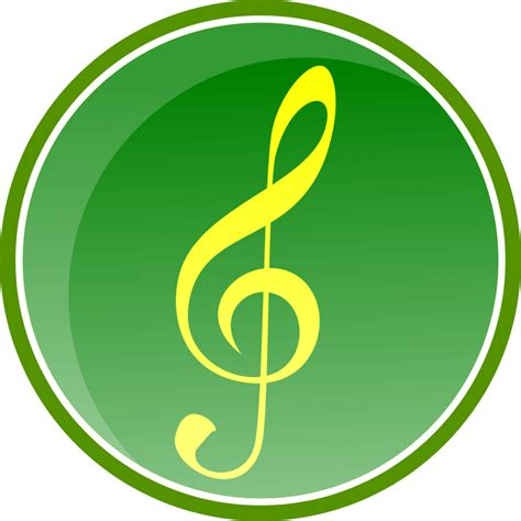 imagenes png para iconos imagenes sin copyright bot 243 n verde de audio con clave de sol