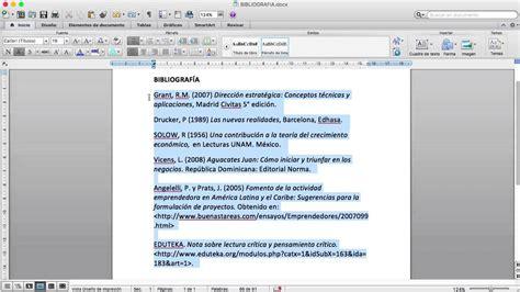 como hacer una bibliografia imagui como ordenar la bibliograf 237 a por orden alfab 233 tico en microsoft word youtube