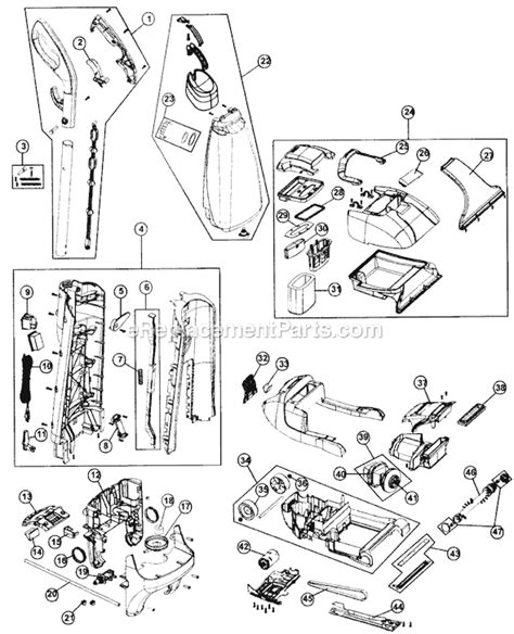 rug doctor parts diagram hoover fh50030 parts list and diagram ereplacementparts