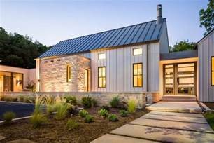 charming Contemporary Kitchen Wall Tiles #1: simple-modern-design-exterior-farmhouse-with-native-texas-landscape-brown-tiered-outdoor-fountains.jpg