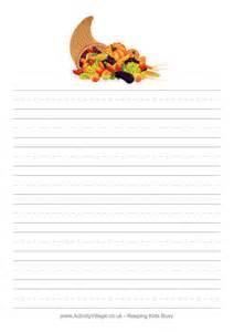 Cornucopia writing paper handwriting