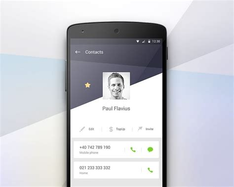 mobile layout design inspiration day025 contact profile mobile ui profiles pinterest