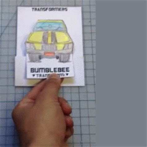 pull out card template bumblebee gif find on giphy