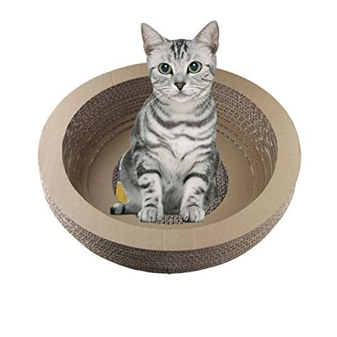 cat shaped couch high density cat scratching cardboard bed bowl shaped