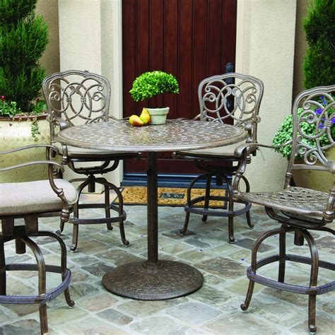 darlee florence 5 cast aluminum patio counter height