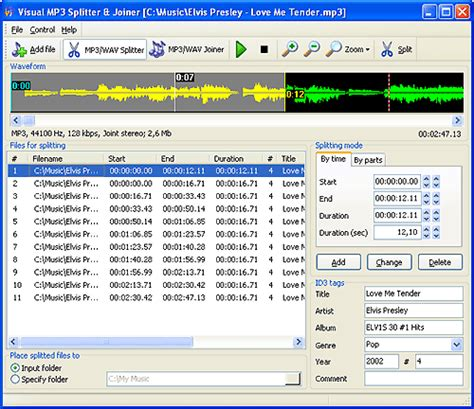 download mp3 cutter and joiner latest version visual mp3 splitter joiner download