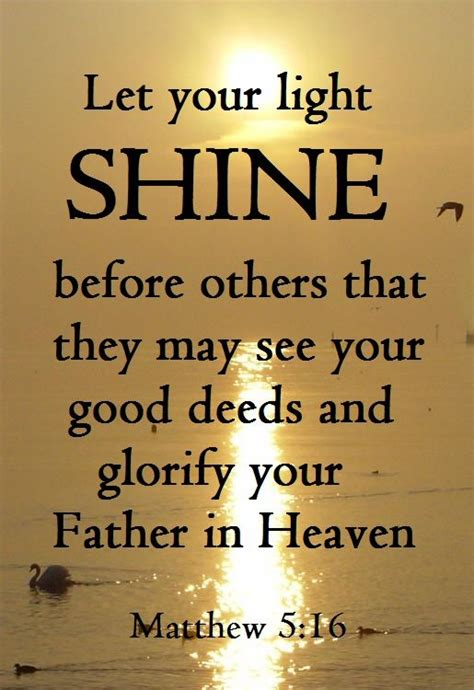 Let Your Light Shine Bible Verse by Matthew 5 16 King Version Kjv 16 Let Your Light So