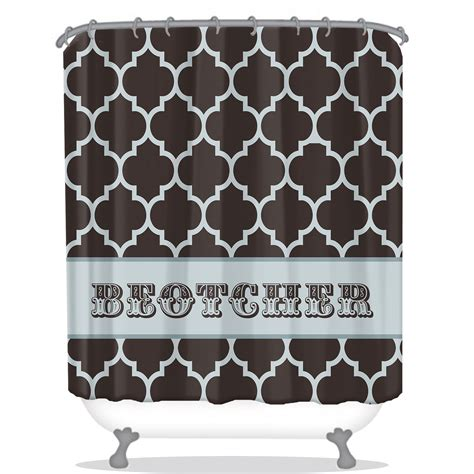 personalized shower curtain quatrefoil pattern personalized shower curtain all