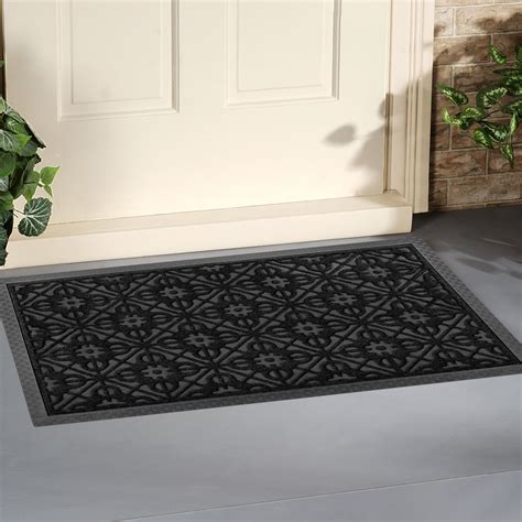 Large Front Door Mat 52 Front Door Mat Large Outdoor Indoor Entrance Doormat Charcoal Black Polypropylene