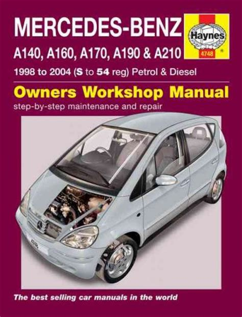 mercedes benz a class petrol diesel 1998 2004 haynes service repair manual sagin workshop car