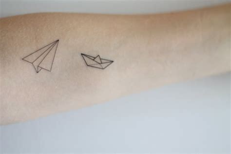 temporary tattoo paper vancouver paper boat and airplane temporary tattoo by