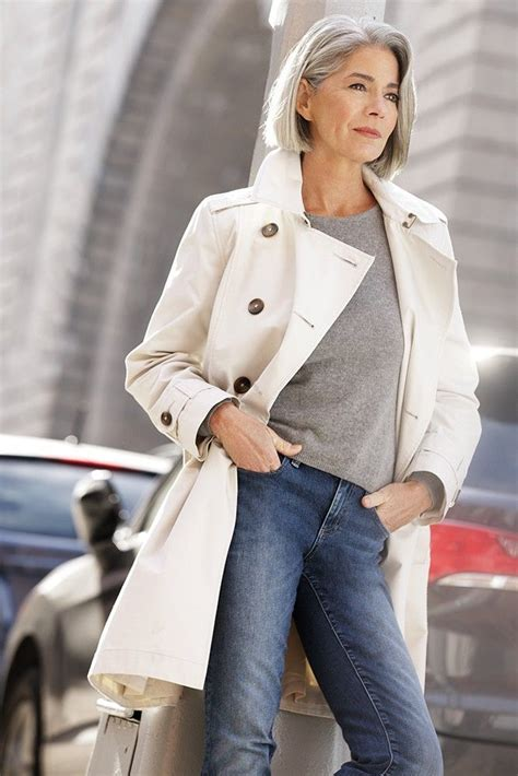 basic spring wardrobe for over age 50 1421 best images about grey hair on pinterest emmylou