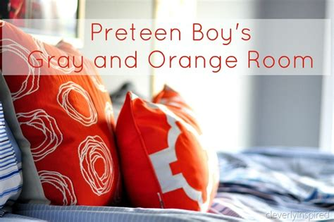 Grey Rooms by Boys Gray And Orange Bedroom Reveal Decorating Boys Room