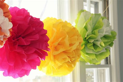 How To Make Large Paper Pom Poms - tissue pom pom tutorial doodles