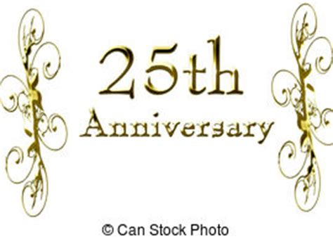 25th anniversary border 3d illustration composition for clip art search illustration