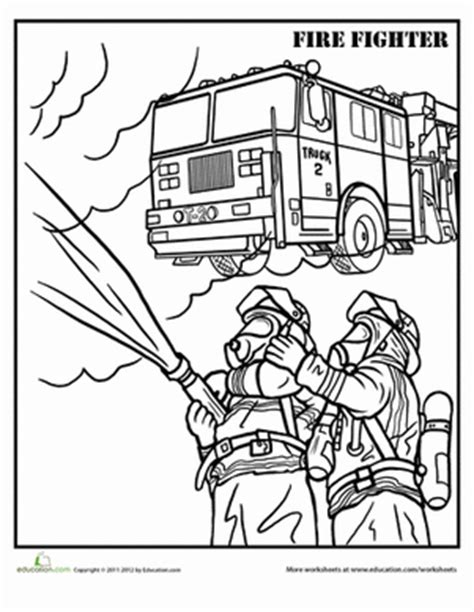 Firefighter Coloring Page Firefighter Worksheets And Department Coloring Pages