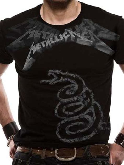 Metallica Black T Shirt metallica black album faded jumbo t shirt tm shop