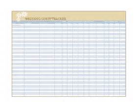 wedding guest excel template wedding guest list template wedding guest list