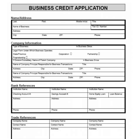 Business Credit Form Template Best Photos Of Customer Credit Application Form Template Credit Application Form Template