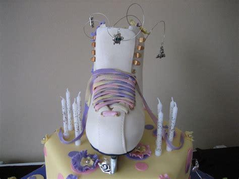 ice skate cake  tiered ice skategirls birthday cake