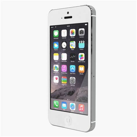apple iphone 5 white silver 3d model max obj cgtrader