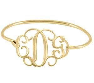 Monogram Bracelet Gold Personalized Gold Monogram Bracelet Sterling By Justforfundesign