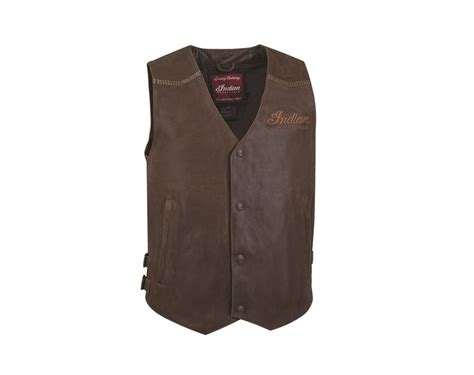 leather motorcycle vest s indian motorcycle 174 leather vest brown leather
