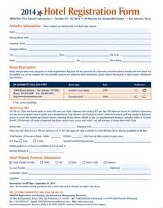 hotel registration form template hotel guest registration form images