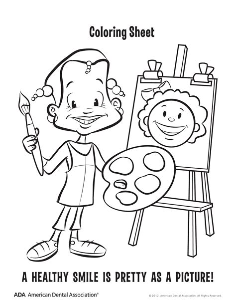 hygiene habits coloring pages