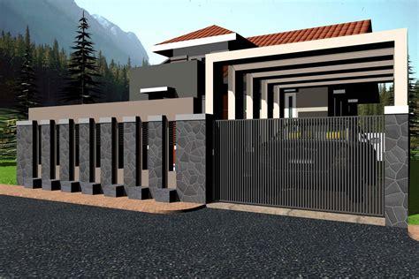 desain lu pagar rumah 70 desain pagar rumah minimalis kayu dan besi