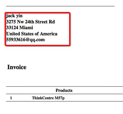 layout address meaning tomatocart invalid address format of invoice and packing
