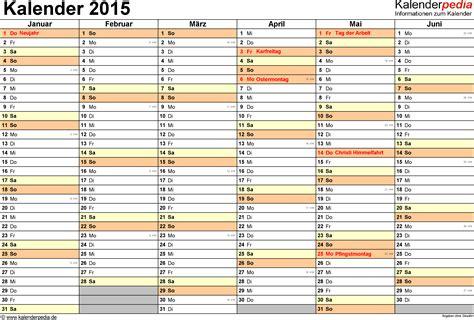 Word Vorlage Jahreskalender 2015 Kalender 2015 Word Zum Ausdrucken 16 Vorlagen Kostenlos