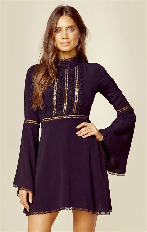 Bell Sleeve Lace Dress willow bell sleeve sleeved dress bodice and neckline