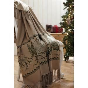 timberland christmas woven throw teton timberline trading