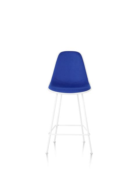 Eames Molded Plastic Stool by Eames Molded Plastic Stool Counter Height Upholstered