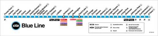 Chicago El Map Blue Line by Map Of Chicago You Can See A Map Of Many Places On The