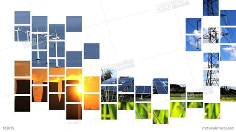 collage of moving renewable energy graphics stock