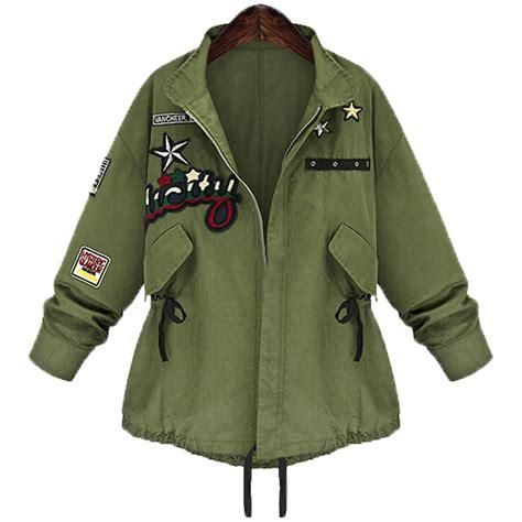 Green Basic Coat N1443 2016 autumn winter plus size 5xl bomber jacket basic coat army green casacos