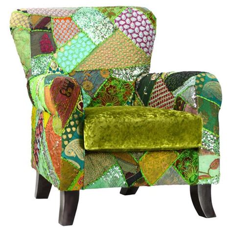 Boho Patchwork Chair - boho green arm chairs and chairs on