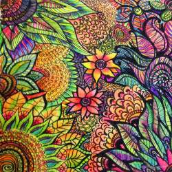 colorful zentangle quot colorful zentangle flowers quot by byington redbubble