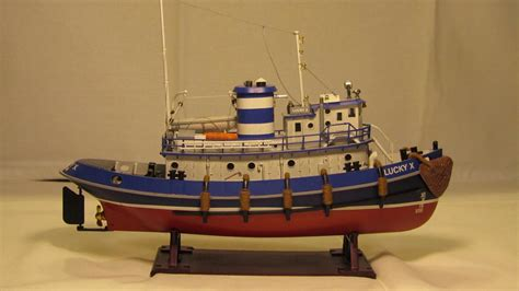 tugboat lucky xi lucky x revell портовый буксир harbour tug boat 05207