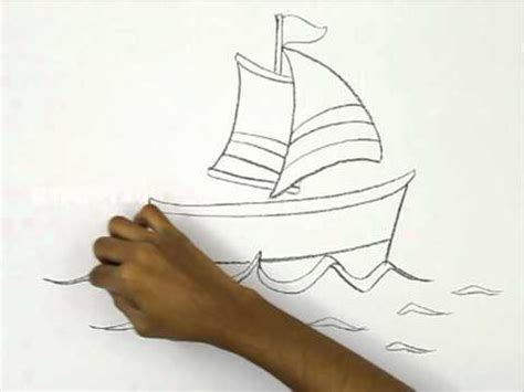 cartoon boat youtube how to draw a cartoon boat youtube