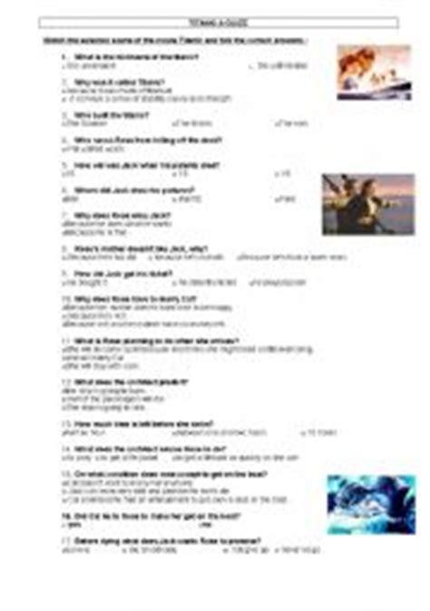 printable titanic quiz english teaching worksheets titanic