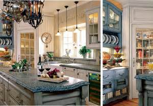 Blue Delft Chandelier Vintage Cottage Kitchen Inspirations French Country