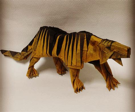 Origami Tiger - 25 purr fect origami cats fur real i m not kitten