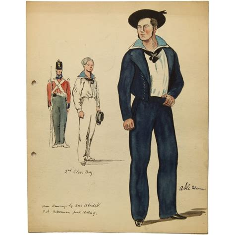 boatswain hms pinafore this is a fine english school sketch dating from the 1930