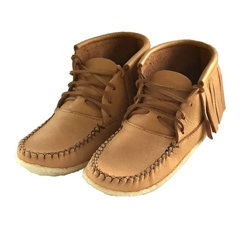 s fringe moccasin boots s authentic american ankle high crepe sole